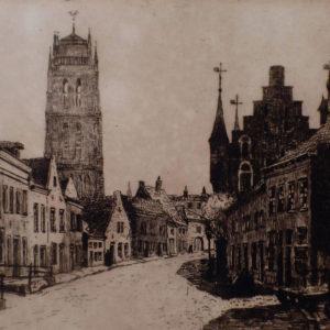 Stadsgezicht Zaltbommel (ets Van Willem Witjens)