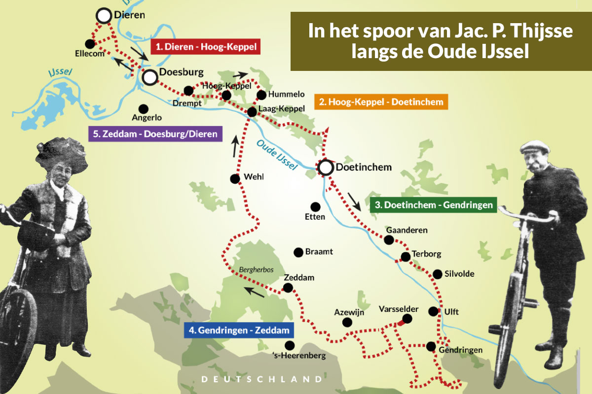 In Het Spoor Van Jac. P. Thijsse Langs De Oude IJssel