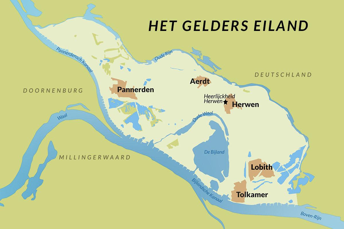 Gelders Eiland Kaart