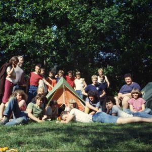 Groepsfoto Kamp Groesbeek Ongeveer 1980