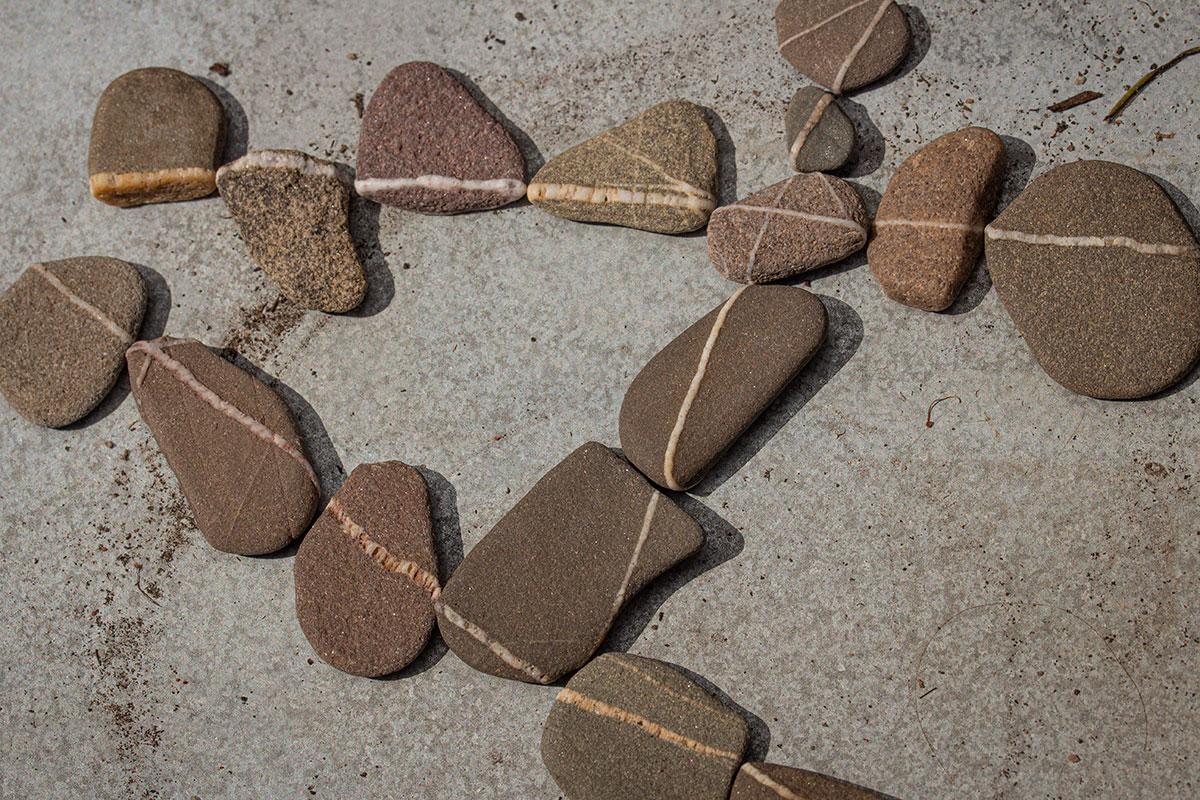 stenen zandsteen kwarts
