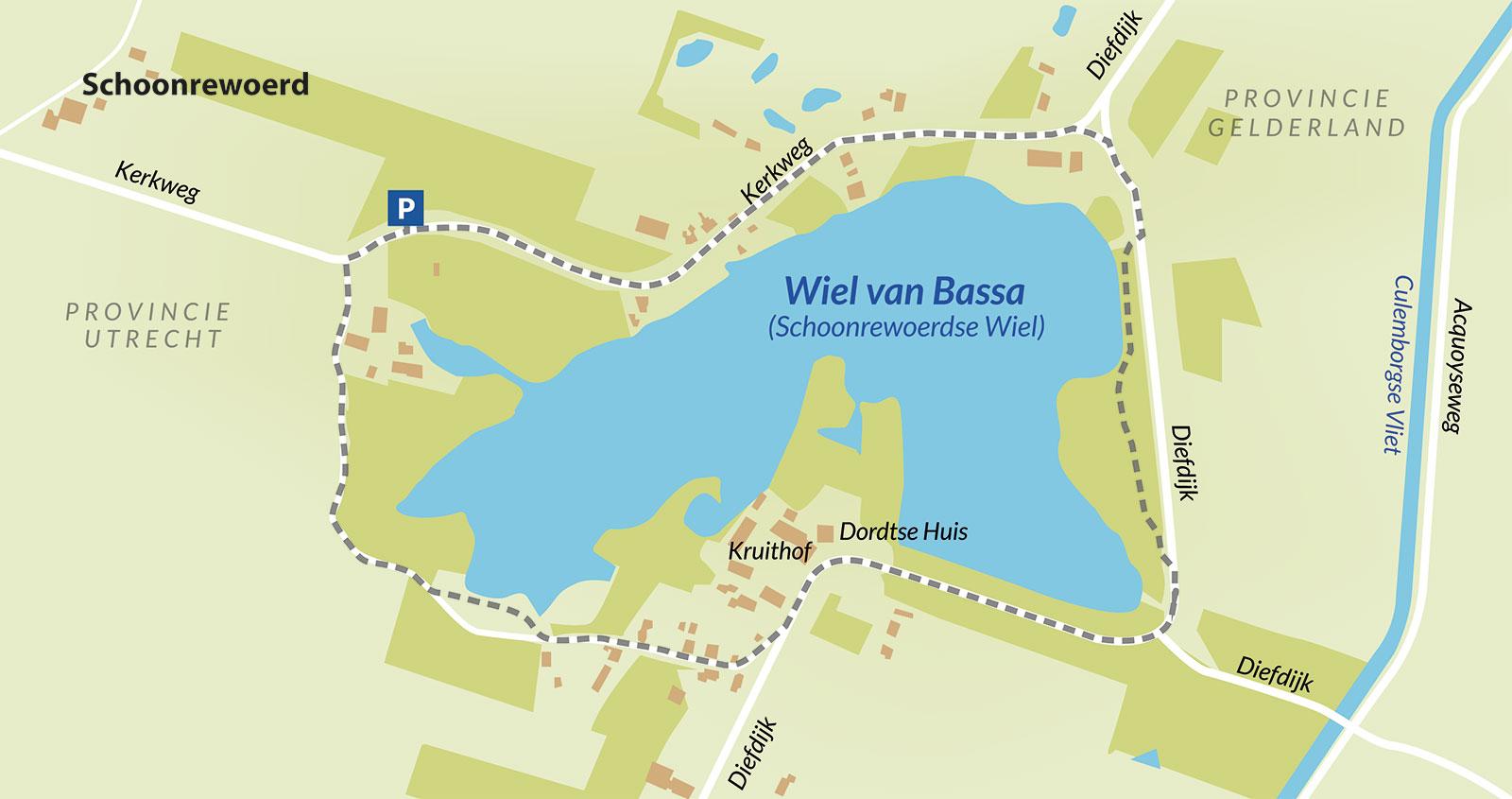 Wandelroute Wiel van Bassa - Schoonrewoerd